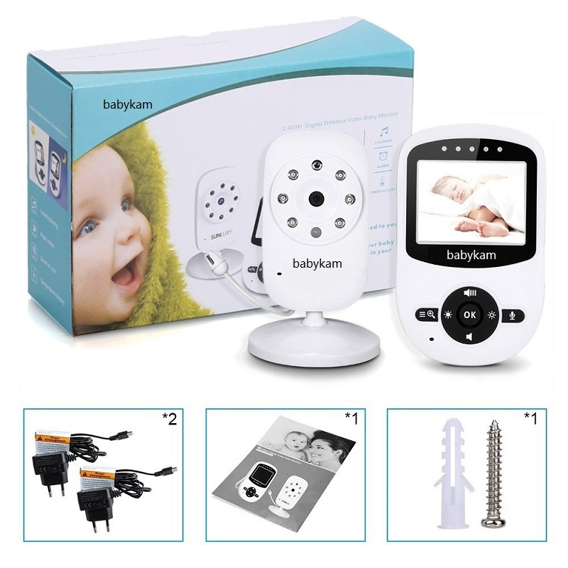 Babykam baby monitor 2.4 inch LCD IR Night Vision Lullabies Temperature Monitor/Alarm Digital Zoom baby intercom nanny monitors