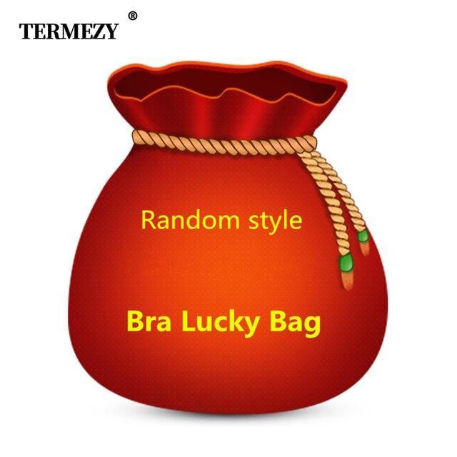 TERMEZY Ladies random style Lucky bag bra sets woman intimates underwear sexy lingerie set transparent Thicken Various styles