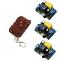 High Quality AC220V RF Wireless Mini Switch Relay 1x 2CH Remote Controller 3x Mini Receivers With