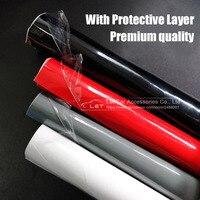 Pegatina de vinilo brillante negro, blanco, rojo, brillante, con capa protectora, para coche y motocicleta