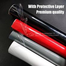 Com camada protetora preto branco vermelho brilhante brilhante preto vinil decalque do carro envoltório adesivo preto gloss filme envoltório para carro da motocicleta