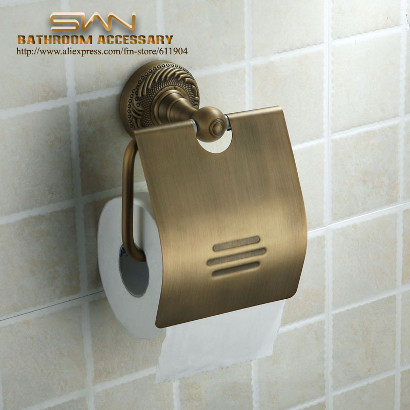 ФОТО Antique Brass Finish Wall Mounted Paper Roll Toilet Tissue Holder 3311601
