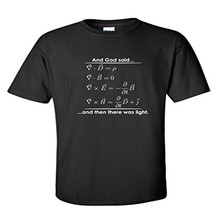 And God Said And Then There Was Light Match Science Religious Funny t shirt Fashion Men T Shirt