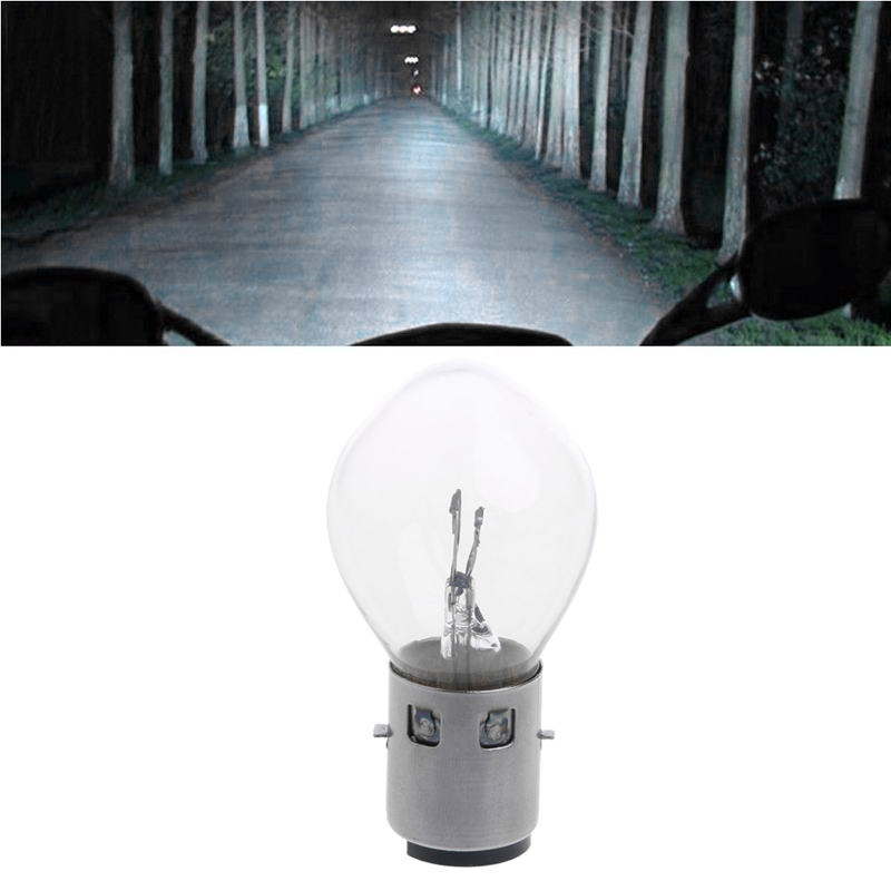 1Pc Motorcycle Lighting 12V 20W 10A B35 BA20D Headlight Bulb For ATV Moped Scooter Glass Motorcycle Headlight