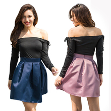 New summer hot European and American fashion personality high waist slim sexy casual loose ladies skirt