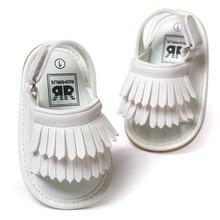 ROMIRUS Baby Shoes Сандалии Повседневная Мода PU Кисточкой Сандалии Для Детей дети Девушки Парни-Белый