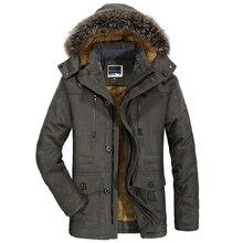 Mens New Fashion Winter Jacket Men Thick Casual Outwear Jackets Mens Fur Collar Windproof Parkas Plus Size 6XL Velvet Warm Coat