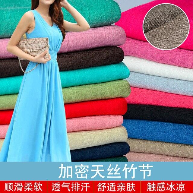 Einfarbig China Tencel Bambus Chiffon Kleid Kostüm Chinesische ...
