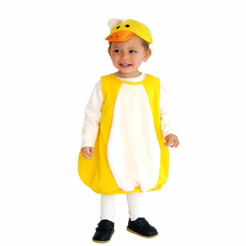 Crianças criança infantil adorável pato amarelo ducky traje cosplay para bebê meninas meninos dia das bruxas purim ano novo carnaval festa outfit