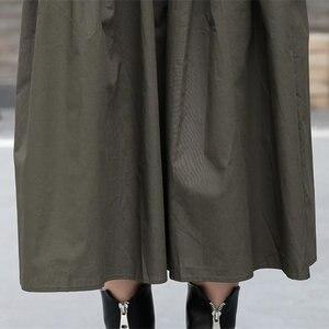 Image 4 - [Xitao] 여성 유럽 패션 드레스 2019 봄 새로운 캐주얼 전체 슬리브 솔리드 컬러 오 넥 불규칙한 여성 twinset 드레스 lyh3101