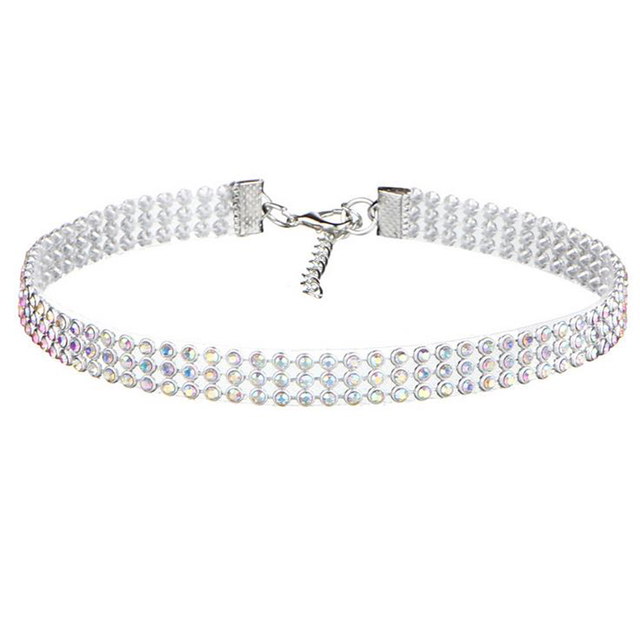 Women's Full Crystal Rhinestone Choker Chain Necklace
