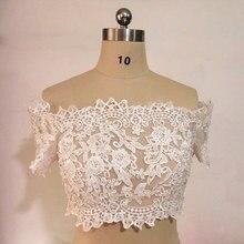 На заказ размер Бисером кружевная куртка Свадебные аксессуары с плеча свадебное кружевное женское платье Болеро настоящее