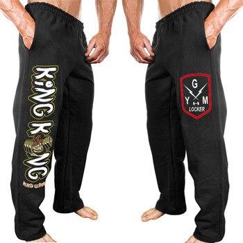 8550f87f40 Nuevo gimnasios Pantalones Hombre Pantalones Jogger pantalones de chándal  de moda Pantalones casuales de los hombres de culturismo pantalones Plus  tamaño M- ...