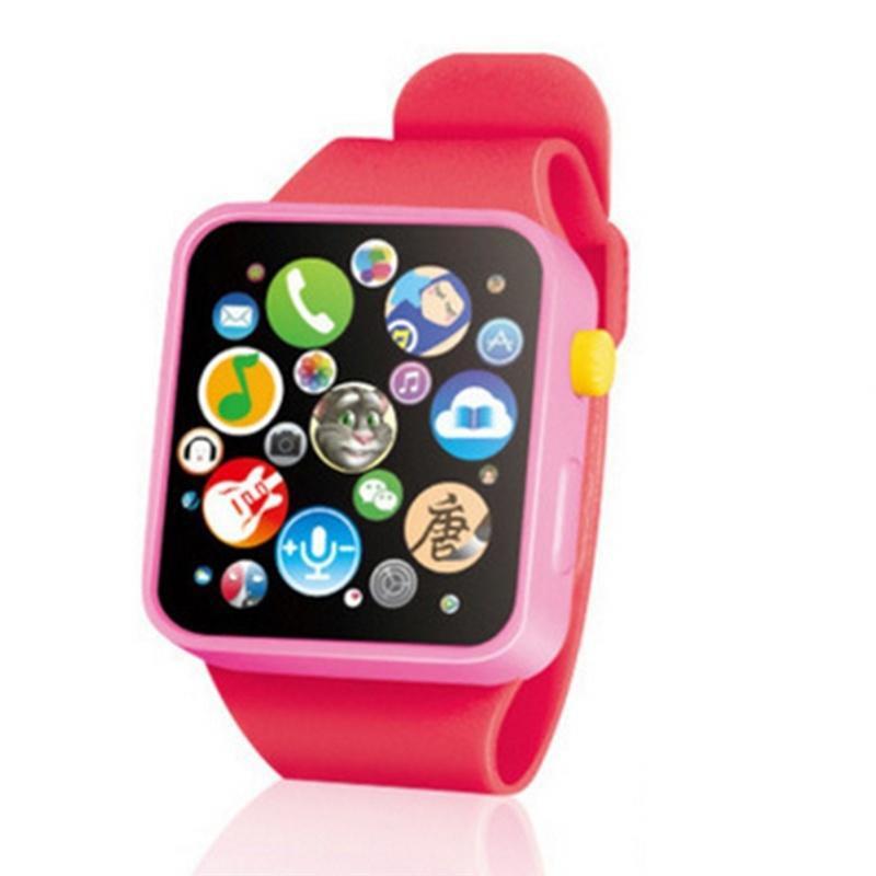 Детские Игрушки для раннего образования, наручные часы, 3D сенсорный экран, музыкальное умное обучение, горячая Распродажа, подарки на день рождения, 3 цвета - Цвет: Красный