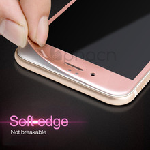 3D Soft Edge 9H Tempered Glass For iPhone 7 6 6S Plus 8 Full Cover Screen Protector For iPhone 6 6S 7 Plus Protective Glass