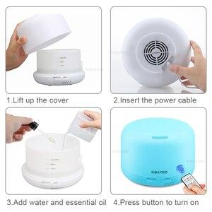 Image 5 - Ультразвуковой увлажнитель воздуха KBAYBO, 300 мл, диффузор эфирного масла, электрический пульт дистанционного управления, ароматерапия с цветными лампами