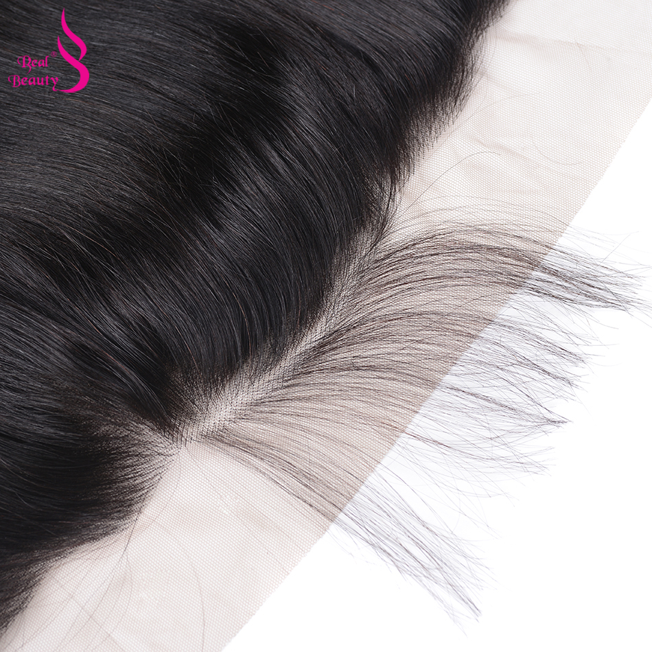 Real Beauty  Body Wave Lace Frontal  Natural Color 13X4 Ear To Ear Lace Closure  With Baby Hair 5