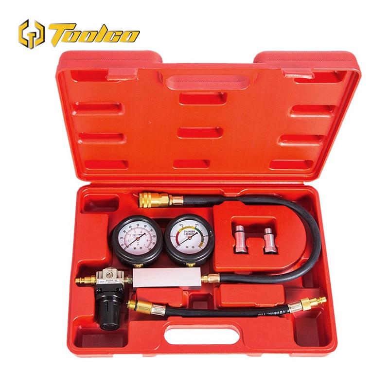 0-100PSI Cylinder Leak Tester TU-21 Compression Leakage Tester Detector Kit Set Petrol Engine Gauge Tool Set Automobile Tools
