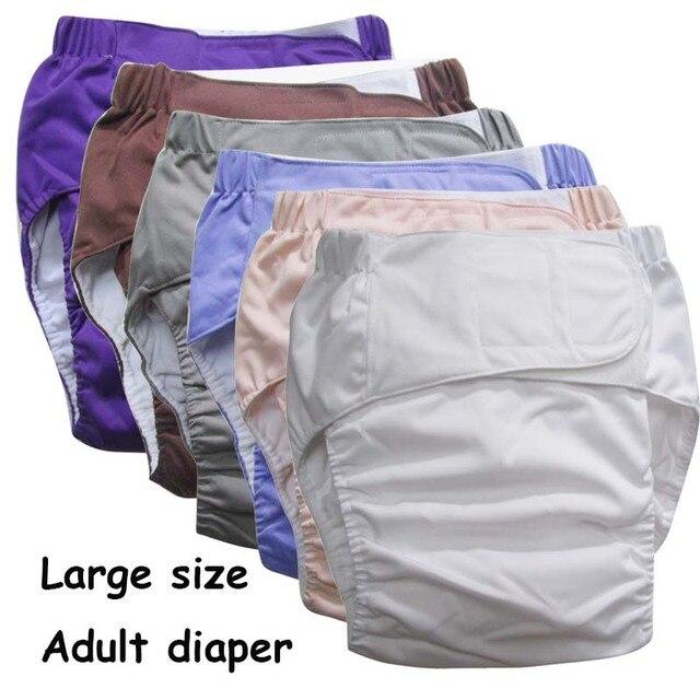 Reutilizable pañales para adultos para las personas mayores y con discapacidad Super gran tamaño TPU ajustable abrigo impermeable incontinencia pantalones undewearD30