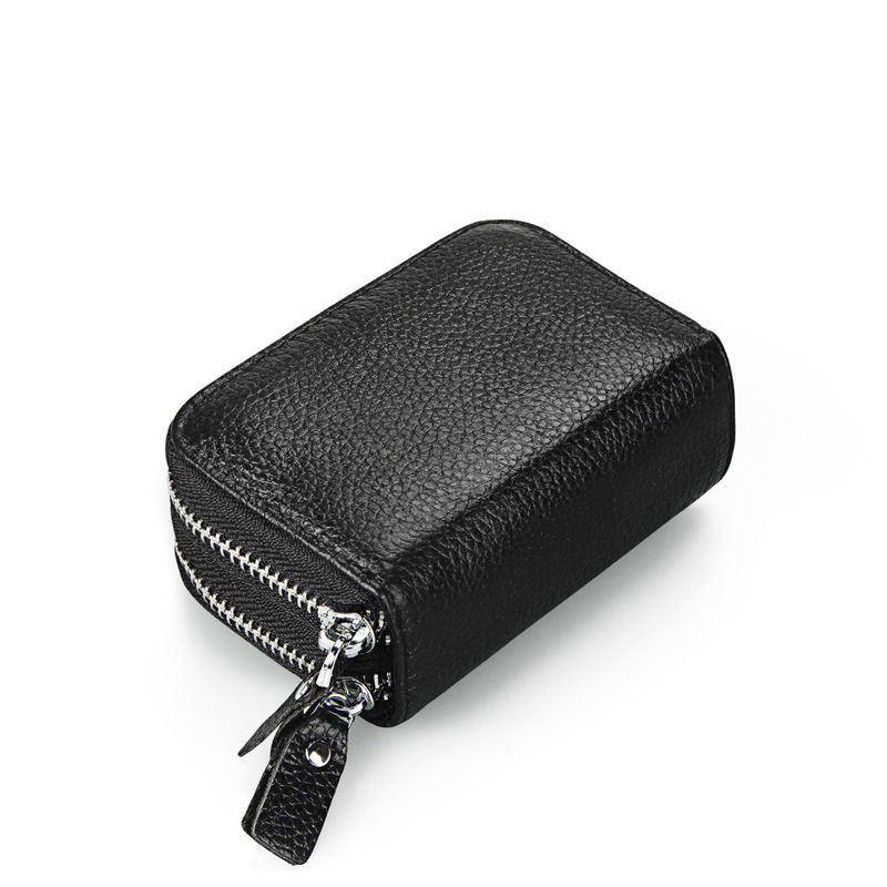 women soft Genuine leather wallet RFID Credit Card Holder Lady Double Zipper Wallets money bag High Quality purse Mujer Cartera