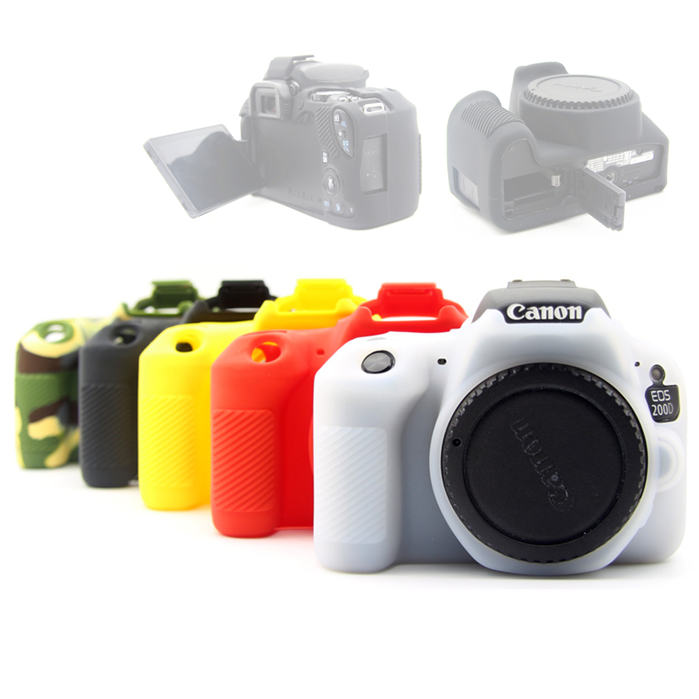 Rubber Silicon Case Soft Body Cover Protector Skin for <font><b>Canon</b></font> EOS <font><b>200D</b></font> 250D / <font><b>200D</b></font> II Rebel SL2 SL3 Kiss X9 X10 DSLR Camera image