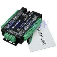 Быстрая доставка 10 шт. 24CH DMX контроллер DMX 512 декодер RGB светодиодная лента модуль Dump узел 24x3A WS24LU3A 5-24V