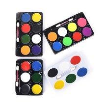 Vente chaude 5/6/8 couleurs corps maquillage Non toxique peinture à l'eau huile corps peinture Kit avec brosse pour noël fantaisie carnaval