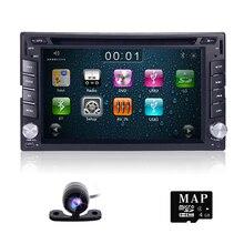 100% новый универсальный автомобиль радио двойной 2 DIN dvd-плеер автомобиля gps-навигация в тире ПК автомобиля стерео Штатная видео + бесплатная карта + бесплатная Cam!