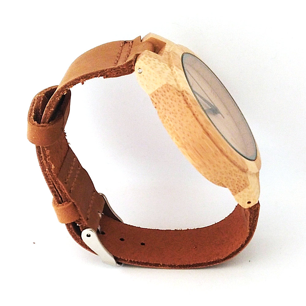 Dames-horloges Bamboo Wood quartz dameshorloges Analoge casual mode - Dameshorloges - Foto 5