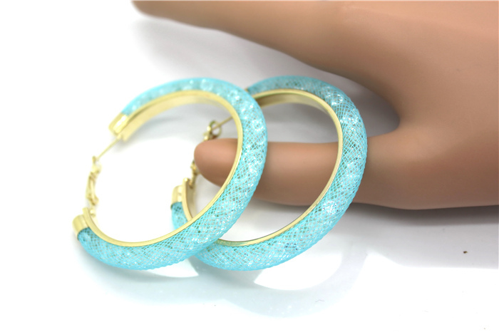 HTB1OLl8HXXXXXb9XpXXq6xXFXXXs - 40mm Big Gold Hoop Earrings Red Crystal Mesh Women Earing Gold Color Round Hoops Jewelry