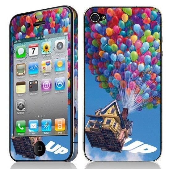 For apple iphone4 4s phone film diamond luminous relief band edges tide brand cartoon stickers