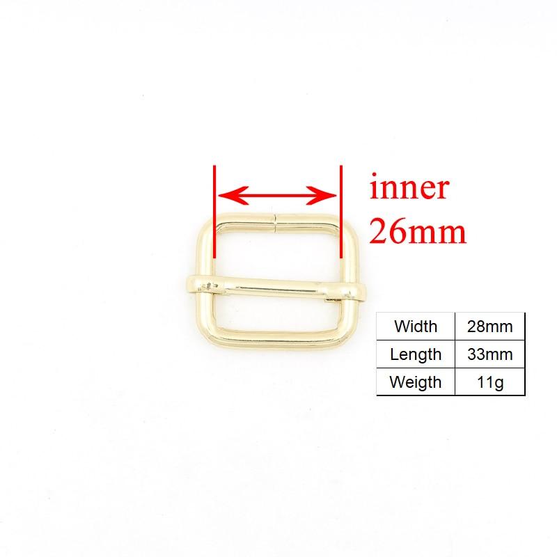 metal buckle adjust buckle D ring set DIY dog collar 25mm golden webbing accessory Zinc Alloy environmental Swivel Clasp in Buckles Hooks from Home Garden
