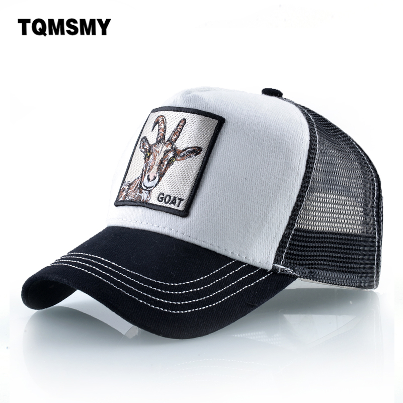 Embroidery goat   Baseball     Caps   For Men and Women Fashion Farm Animals Snapback   cap   Hip Hop Hat Breathable Mesh Sun Hats Gift bone