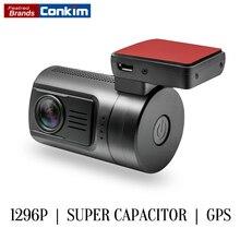 Conkim Dash Camera Mini 0806s Auto Dash Cam DVR Camera Ambarella A7 1296P 1080P HDR Car