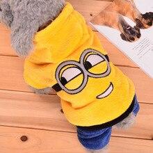 Fashionable Winter Minions Hooded Sphynx Cat Sweatshirt