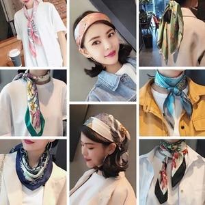LEVAO Koreanische Leopard Print Taschentuch Haar Band Haar Schal Elastische Haar Band Frauen Stirnband Mädchen Headwear Haar Zubehör