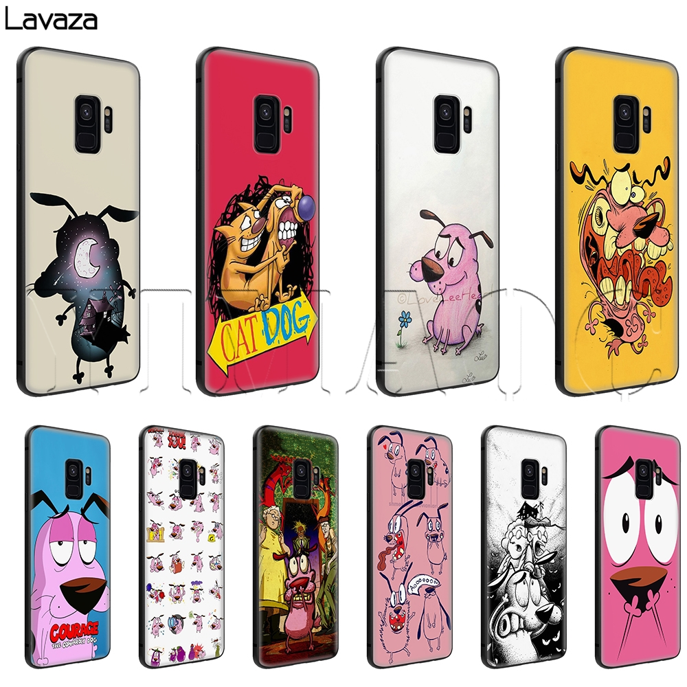 Lavaza Courage the Cowardly Dog Soft Silicone Case for Samsung Galaxy S6 S7 Edge S8 S9 Plus A3 A5 A6 Note 8 9