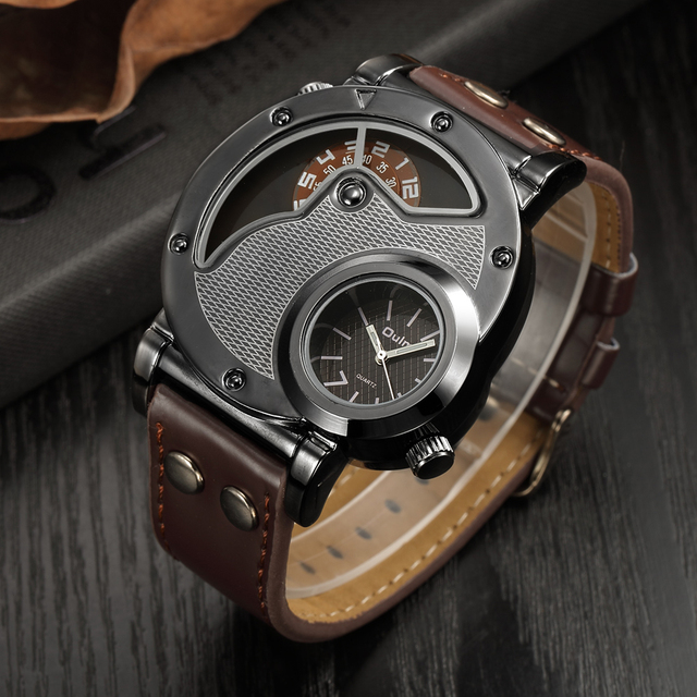 Steampunk Unique Looking Watch w/ Leather Strap 1