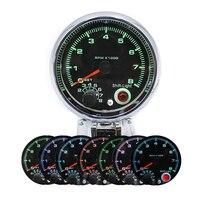 95mm Tachometer Range Cars Gauge Digital Pointer Adjustable LED Display Rotate Speed Meter Fit for 4/6/8 Cylinder Gasoline Car