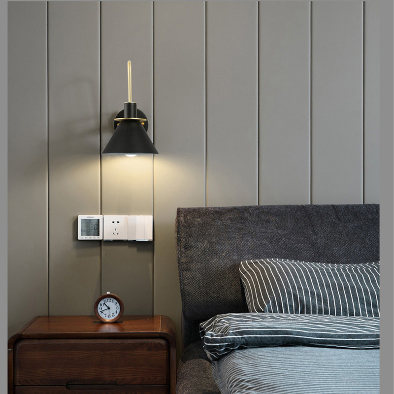 Post Modern Wall Lights Sconce Creative Iron Horn LED Nordic Simple Modern Wall Light For Bedside Wall Lamp Home Indoor Lighting Fixture E27 E26 (10)