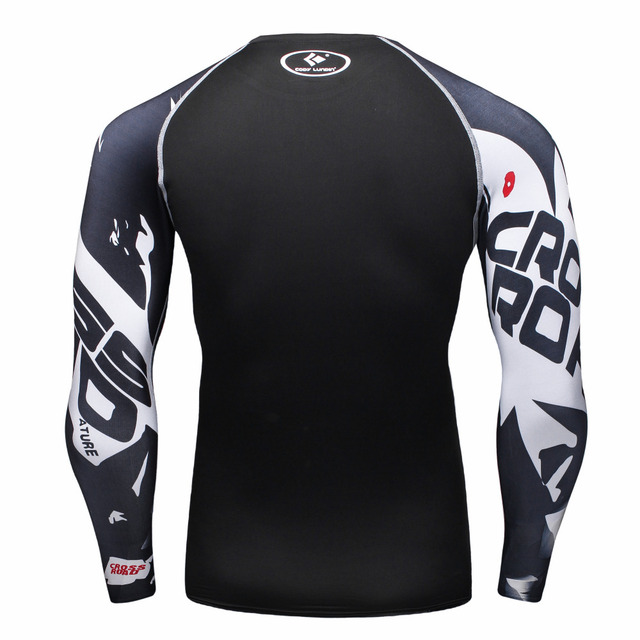 Mens Compression Shirts Bodybuilding Long Sleeves