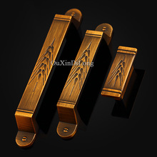 HOT 10PCS European Vintage Carved Kitchen Door Furniture Handles Cupboard Drawer Wardrobe Cabinet Pulls and Knobs