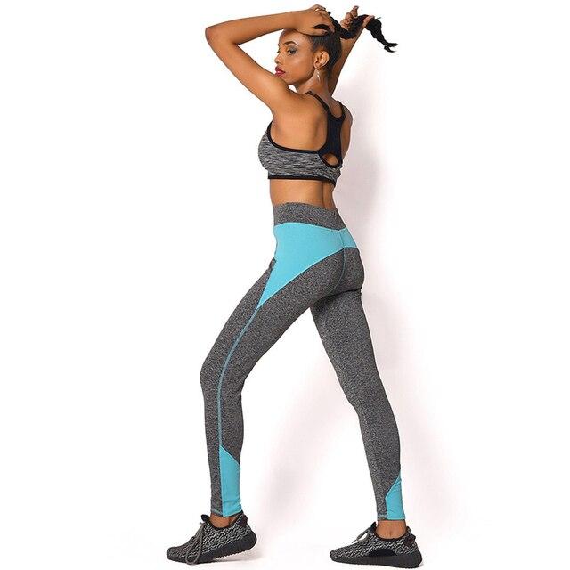 2017 Новое Прибытие Quick-Dry Женщины Тренировки Леггинсы Девятый Брюки Сращивания Тощий Готический Леггинсы Панк-Рок Фитнес Legins