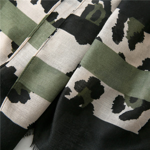 Image 5 - Women Fashion Sexy Leopard Dot Fringes Viscose Shawl Scarf Autumn Winter Wraps and Scarves Pashmina Foulards Stole Muslim Hijab