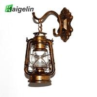 Vintage Outdoor LED Wall Sconce Lamp E26 E27 LED Bulbs Loft Retro Wall Light Luminaire Fixture Antique Glass Industrial Light