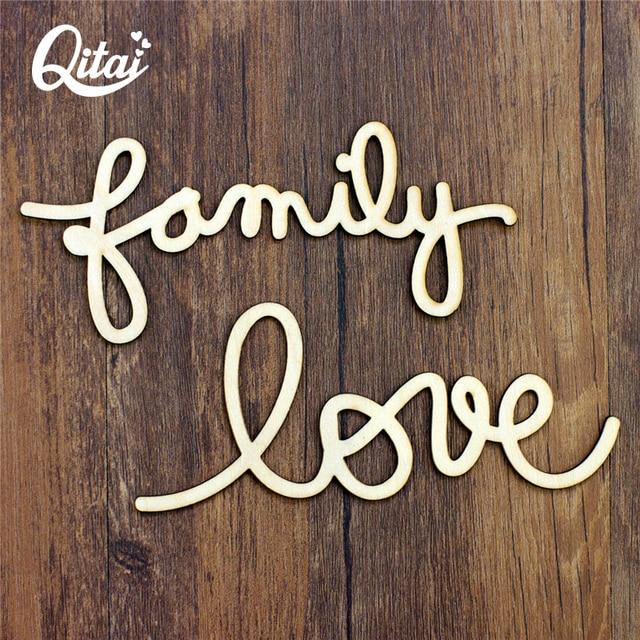 qitai 24 pieceslot simple wood letters alphabet love family home decor wooden love letters