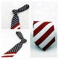 Американский флаг галстук Звезда геометрическая stripes галстук Модный и роман личности Производительность галстук галстук