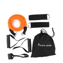 Купить с кэшбэком 7pcs man resistance bands exercise set fitness tube yoga workout pilates for wholesale and free shipping kylin sport
