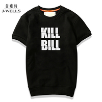Personality Characters Printed Men Hoodies Short Sleeve O-Neck Sweatshirt Funny Casual Cotton Fashion Thick Warm Male Hoodies