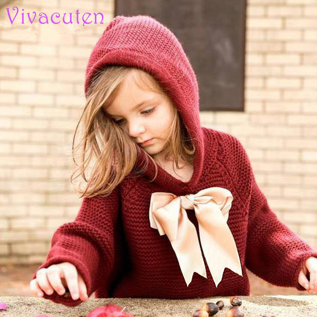 New Baby Girls Sweaters Cape Autumn Hooded Children Knitted Cardigans Fringe Toddler Kids Coats Winter Warm Infant Clothes 0-2T